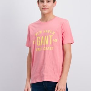Gant Gant East Coast T Shirt T-Paita Vaaleanpunainen