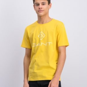 Gant Gant Lock Up T Shirt T-Paita Keltainen
