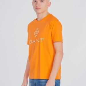 Gant Gant Lock Up T Shirt T-Paita Oranssi
