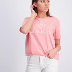 Gant Gant Lock Up T Shirt T-Paita Vaaleanpunainen