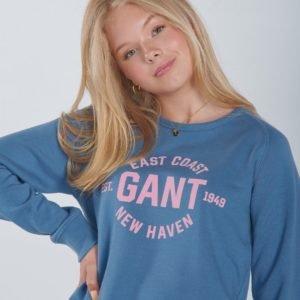 Gant Gant Logo C Neck Sweat Neule Sininen