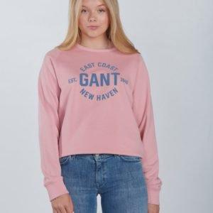 Gant Gant Logo C Neck Sweat Neule Vaaleanpunainen