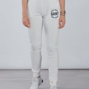 Gant Gant Logo Sweat Pants Collegehousut Valkoinen