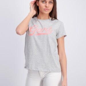 Gant Gant Script Logo T Shirt T-Paita Harmaa