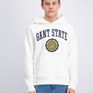 Gant Gant Varsity Sweat Hoodie Huppari Valkoinen