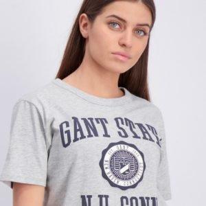 Gant Gant Varsity T Shirt T-Paita Harmaa