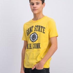 Gant Gant Varsity T Shirt T-Paita Keltainen