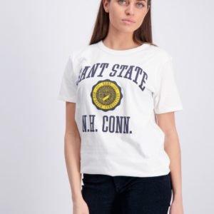 Gant Gant Varsity T Shirt T-Paita Valkoinen