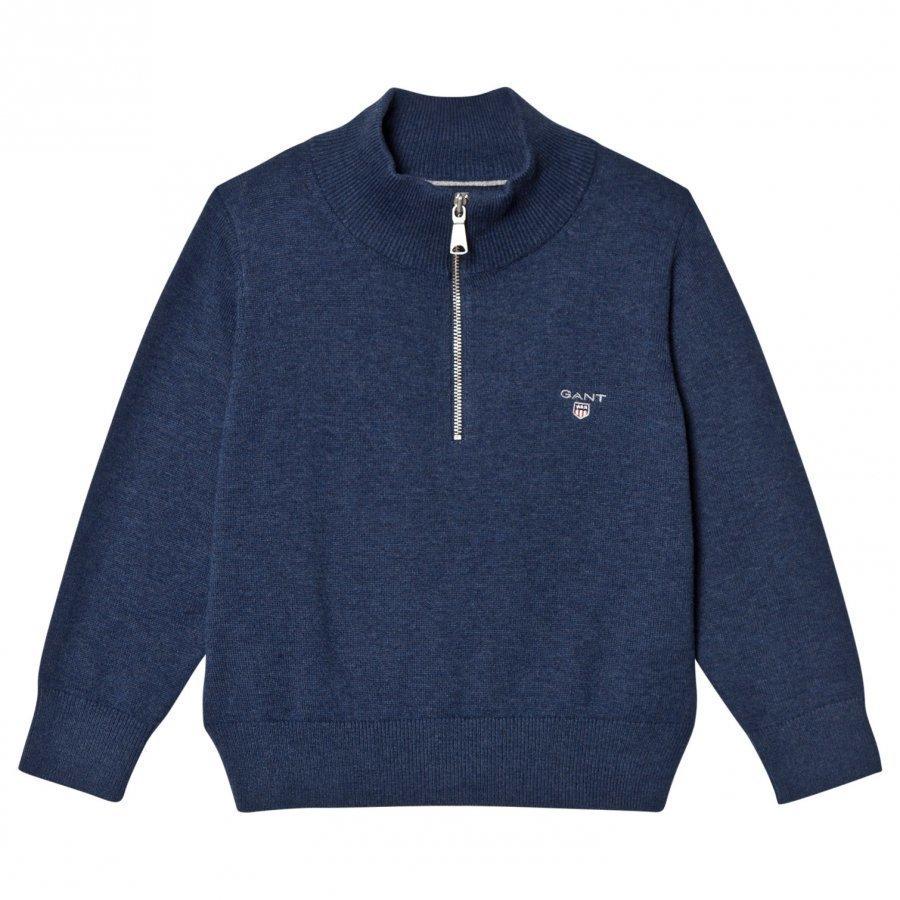 Gant Grey Melange Half Zip Knit Jumper Paita