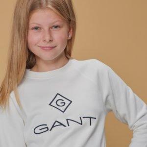 Gant Lock Up Crewneck Neule Valkoinen