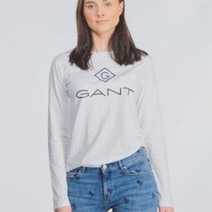 Gant Lock Up Long Sleeve Paita Valkoinen