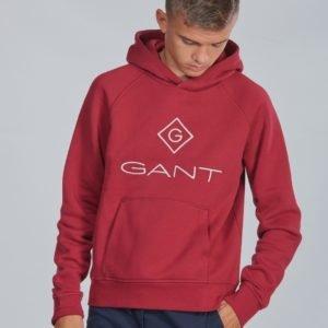 Gant Lock Up Sweat Hoodie Huppari Punainen