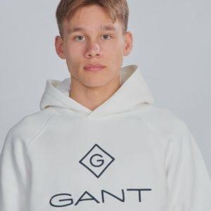 Gant Lock Up Sweat Hoodie Huppari Valkoinen