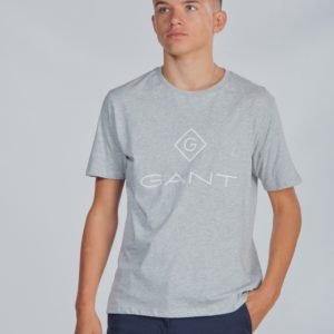 Gant Lock Up T Shirt T-Paita Harmaa
