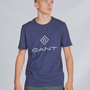 Gant Lock Up T Shirt T-Paita Sininen