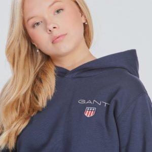 Gant Medium Shield Sweat Hoodie Huppari Sininen
