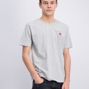 Gant Medium Shield T Shirt T-Paita Harmaa