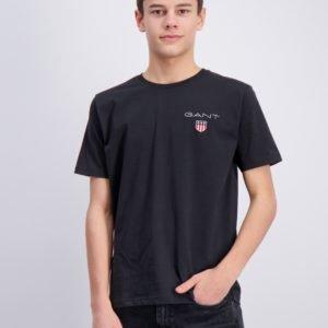 Gant Medium Shield T Shirt T-Paita Musta