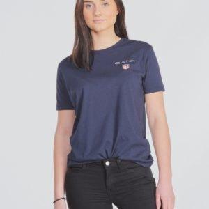 Gant Medium Shield T Shirt T-Paita Sininen