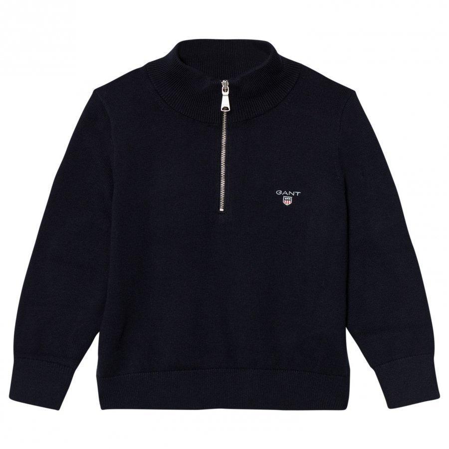 Gant Navy Half Zip Knit Jumper Paita