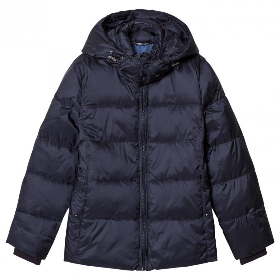 Gant Navy Puffer Coat With Detachable Hood Toppatakki