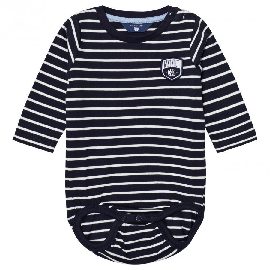 Gant Navy Stripe Logo Baby Body