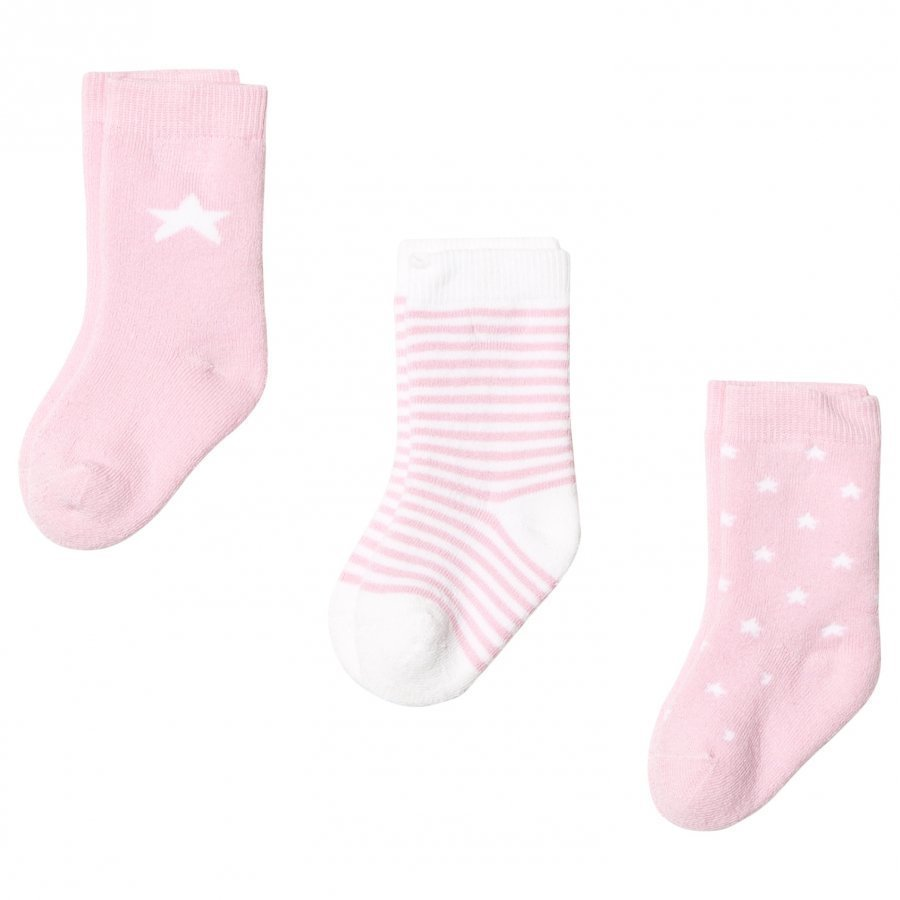 Gant Newborn Socks 3-Pack Pink Sukat