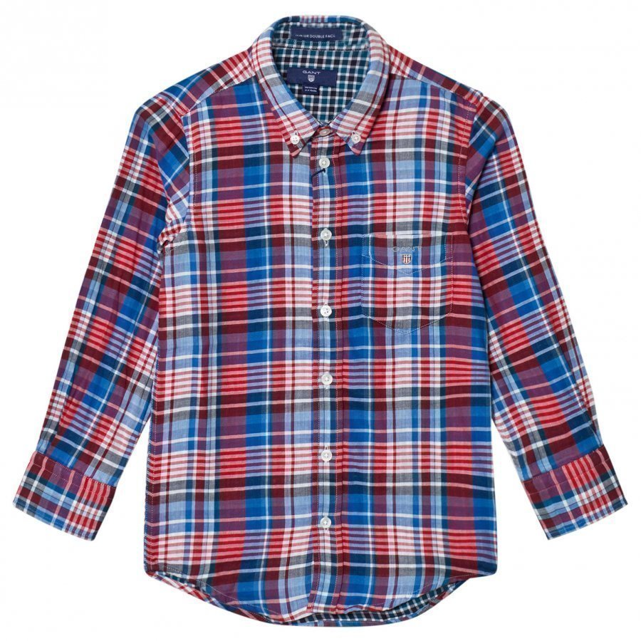 Gant Red And Blue Double Face Oxford Shirt Kauluspaita