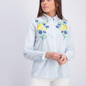 Gant Summer Embroidery Shirt Kauluspaita Sininen