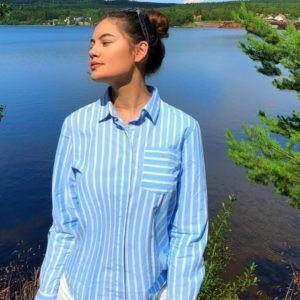 Gant Tg. Spring Stripe Shirt Kauluspaita Sininen