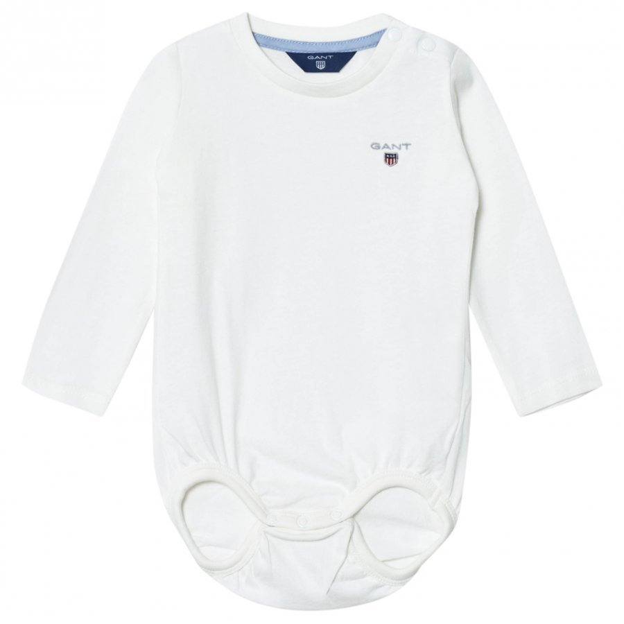 Gant White Shield Jersey Baby Body