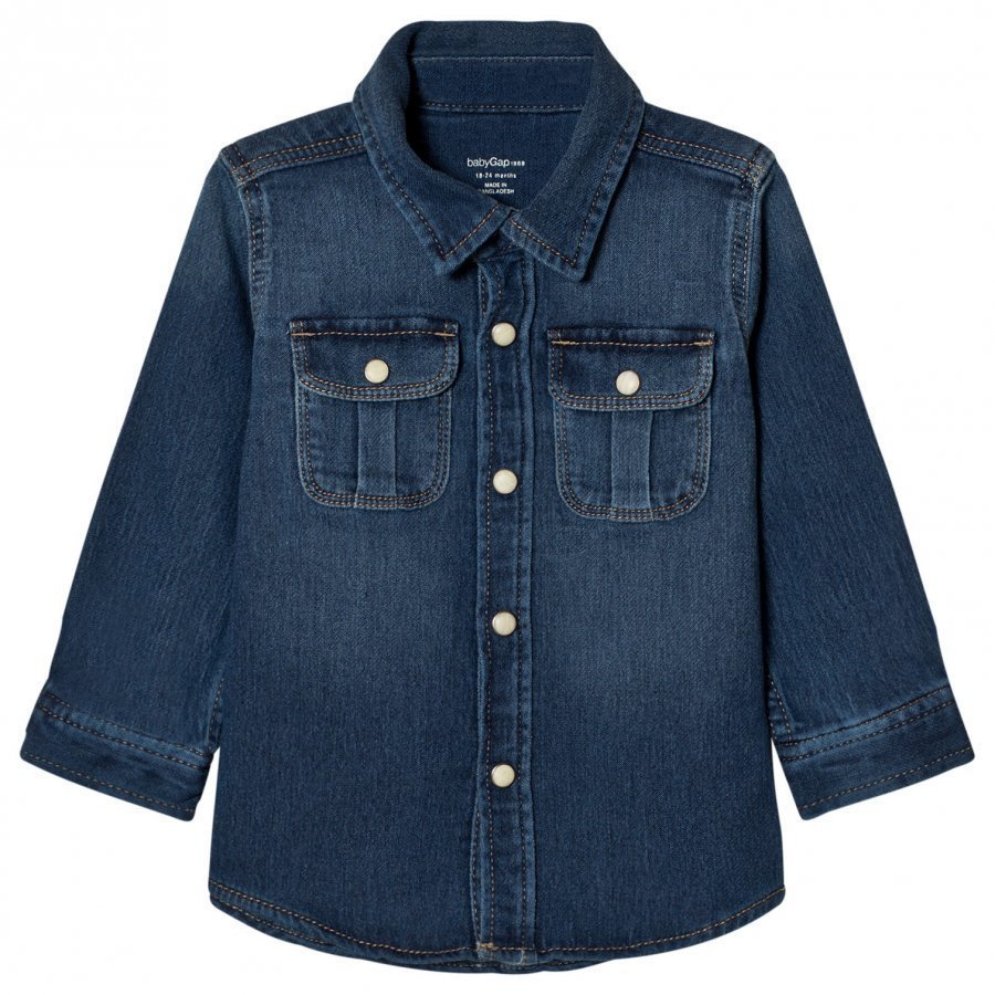Gap 1969 Super Soft Denim Shirt Kauluspaita