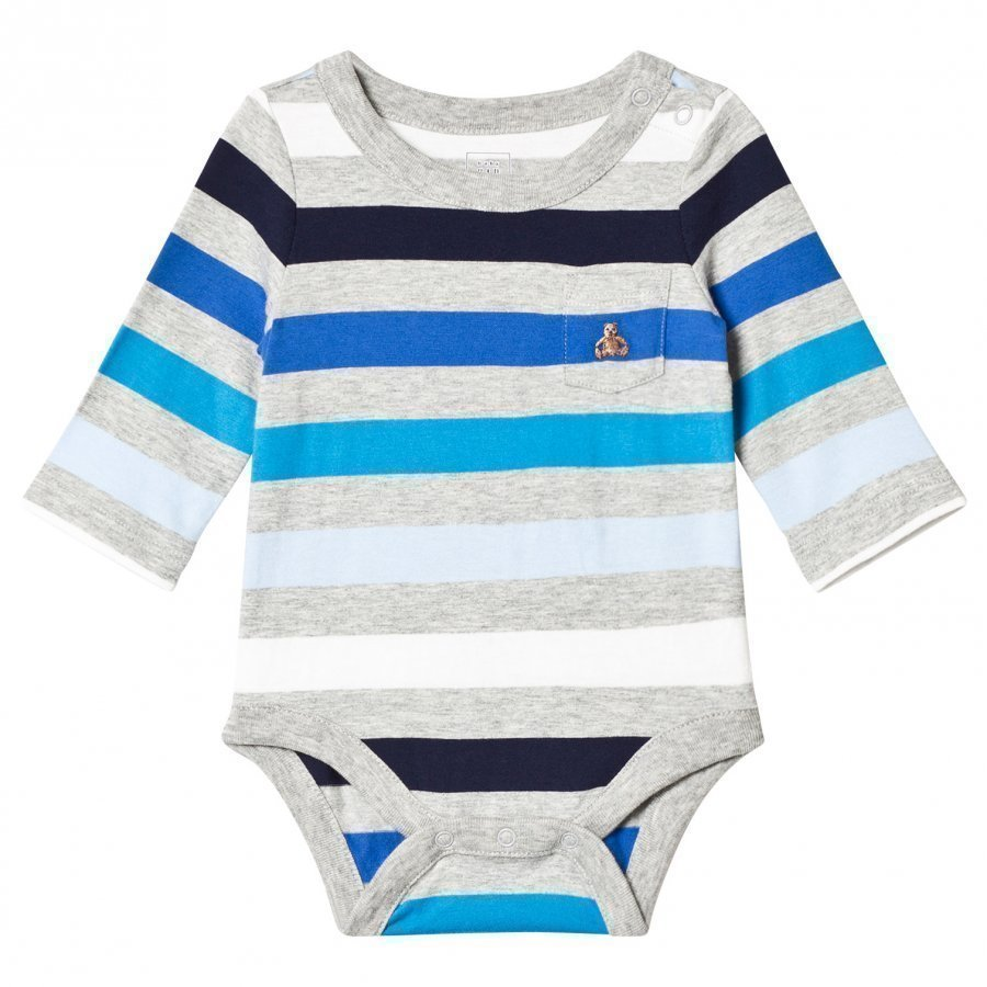 Gap Bf Ls Prnt Bs Blue Stripe Body