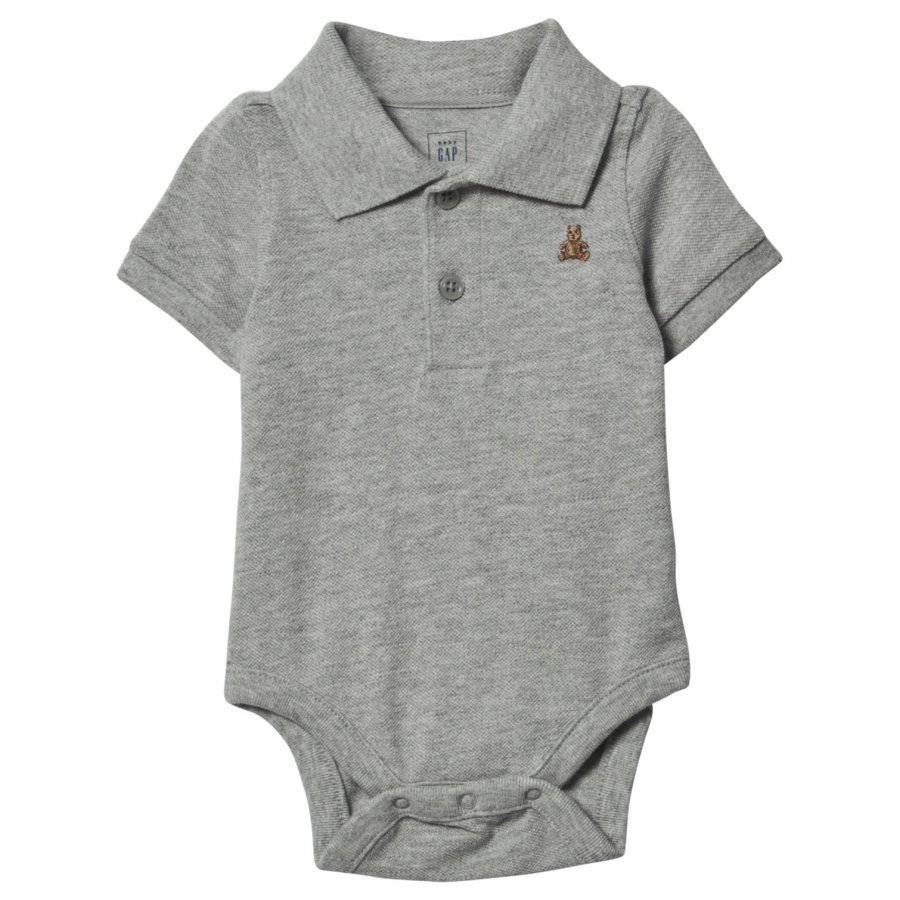 Gap Brannan Polo Baby Body Grey Pikeepaita