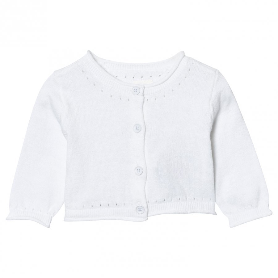 Gap Button Crew Cardigan Optic White Neuletakki
