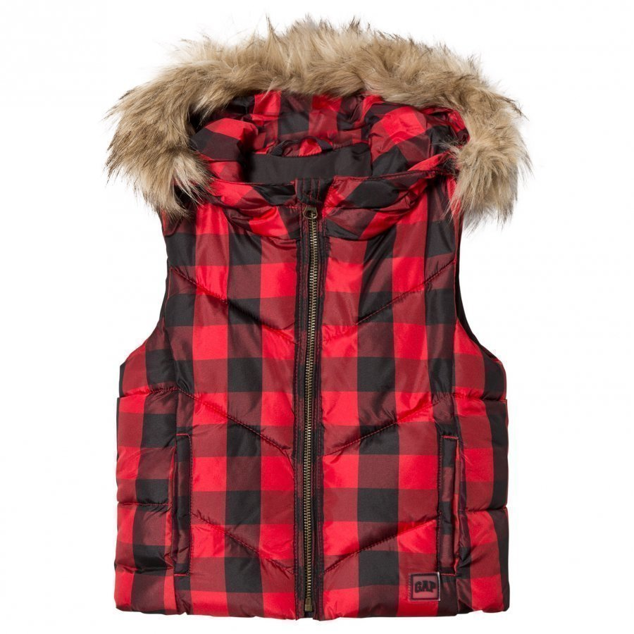 Gap Chevron Vest P Red Plaid Liivi