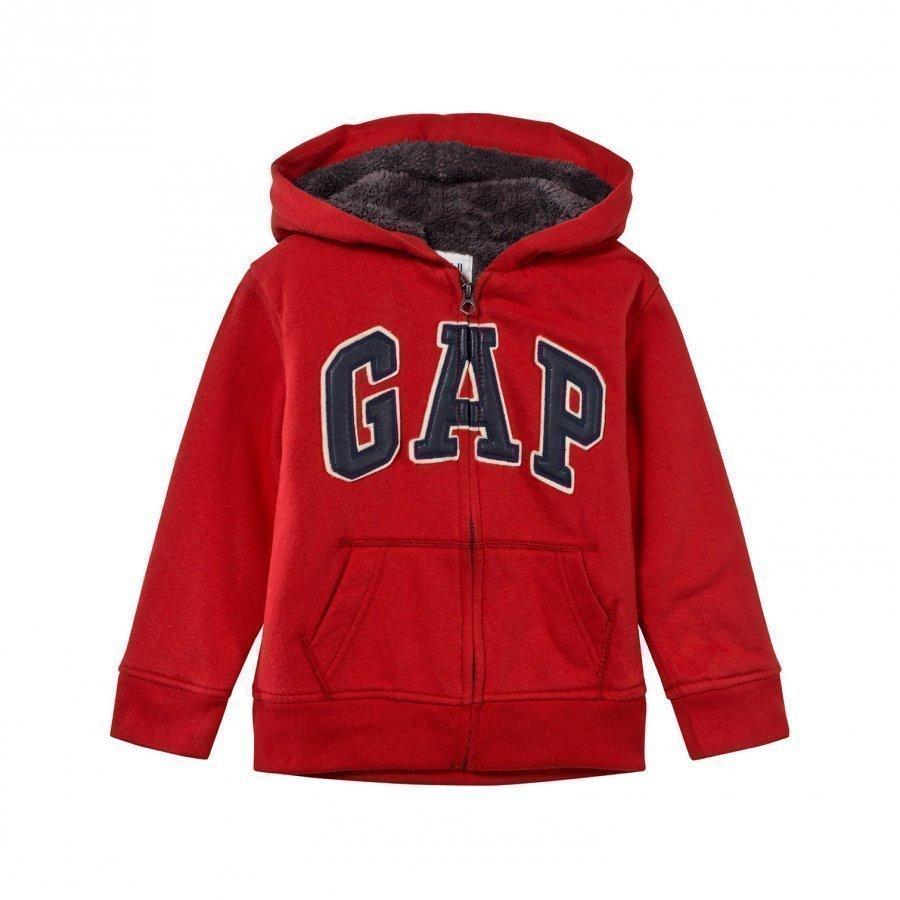 Gap Cozy Logo Zip Hoodie Modern Red Huppari