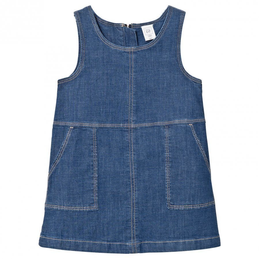 Gap Denim Jumper Medium Wash Mekko