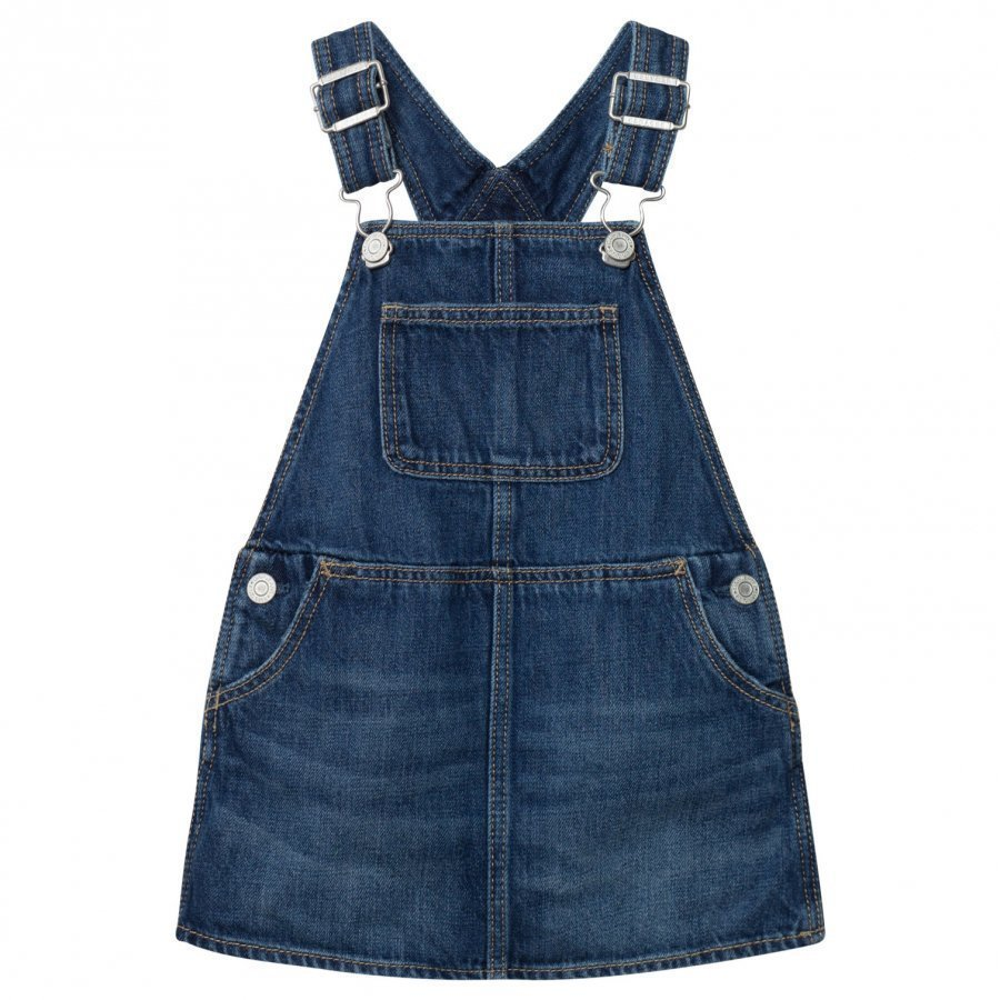 Gap Denim Skirt Overalls Medium Denim Farkkuhame