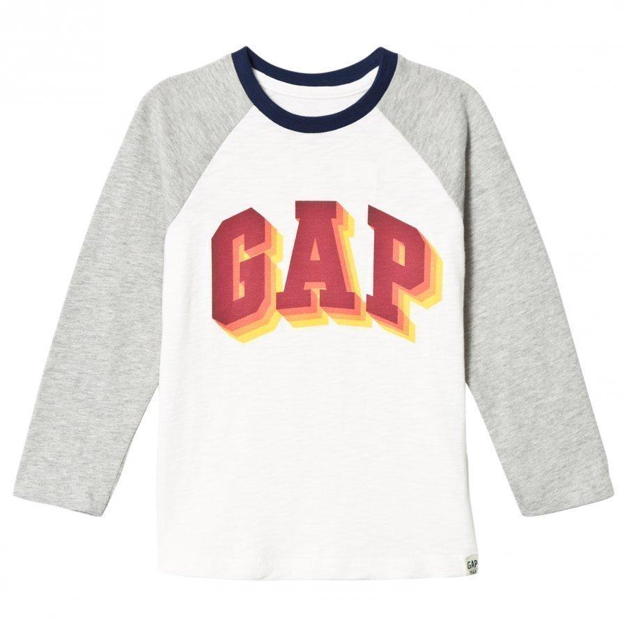 Gap Elv Ls Gap Te New Off White Pitkähihainen T-Paita
