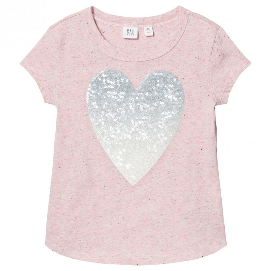 Gap Embellished Graphic Short Sleeve Tee Pink Heather T-Paita