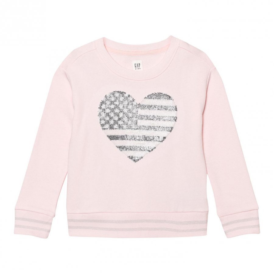 Gap Embellished Logo Crew Sweatshirt Pink Heather Oloasun Paita