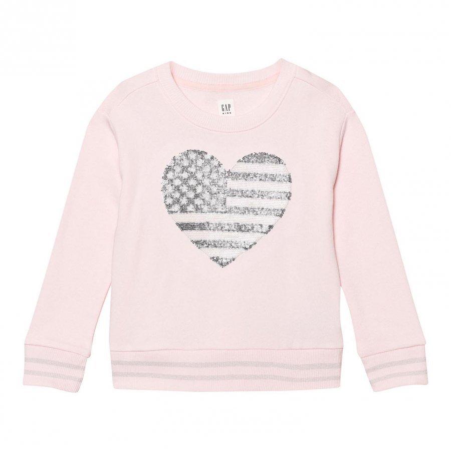 Gap Embellished Logo Crew Sweatshirt Pink Heather Oloasun Paita