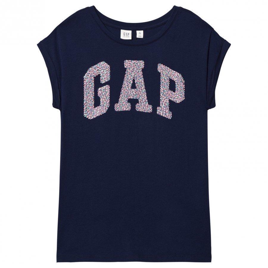 Gap Embellished Logo Tee Elysian Blue T-Paita