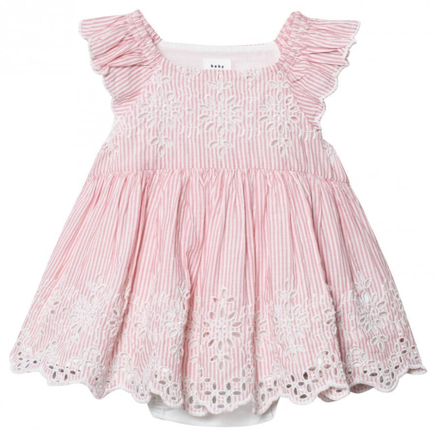 Gap Eyelet Flutter Dress Apple Blossom Mekko