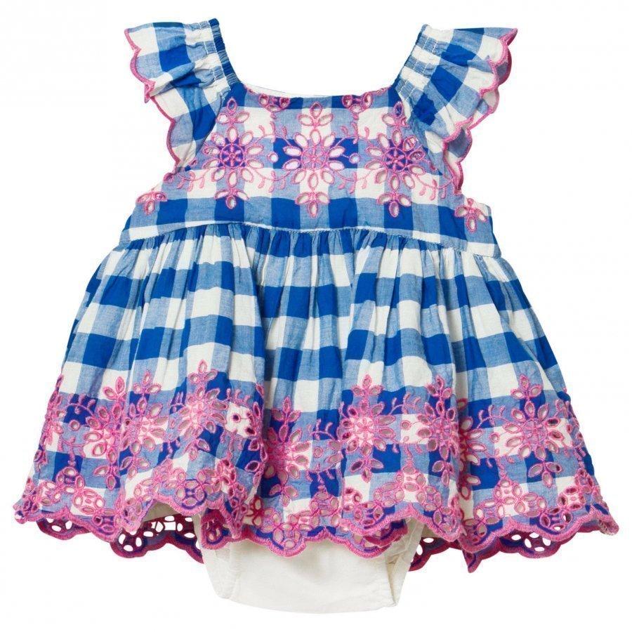 Gap Eyelet Flutter Dress Blue Streak Mekko