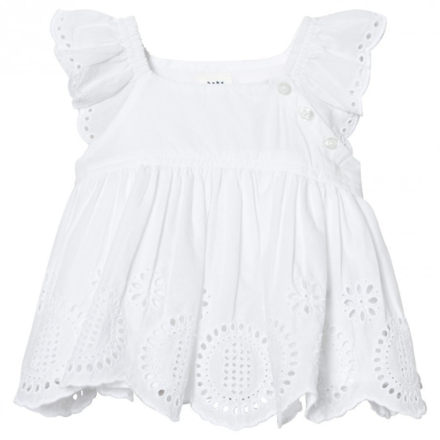 Gap Eyelet Flutter Top Optic White Mekko
