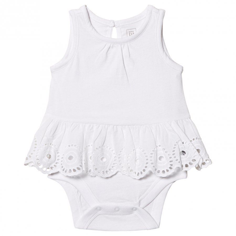 Gap Eyelet Peplum Tank Double Body White Liivi
