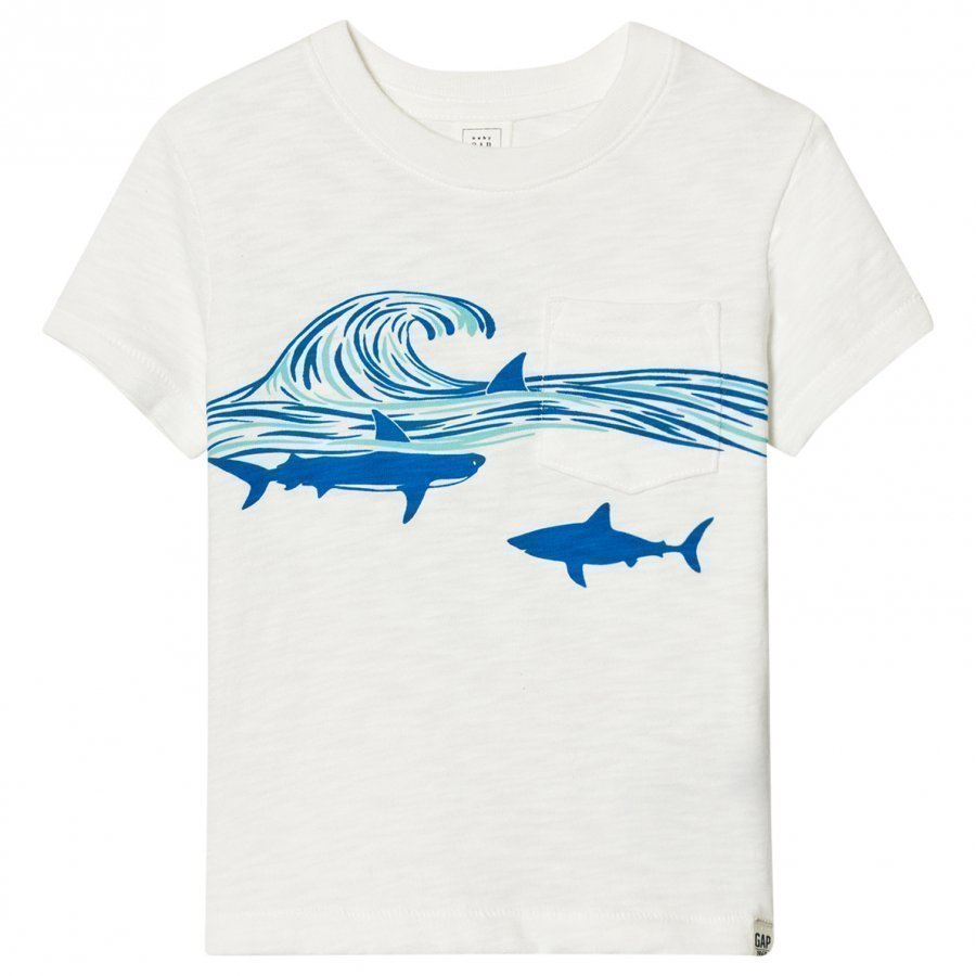 Gap Graphic Pocket Slub Tee In New Off White T-Paita