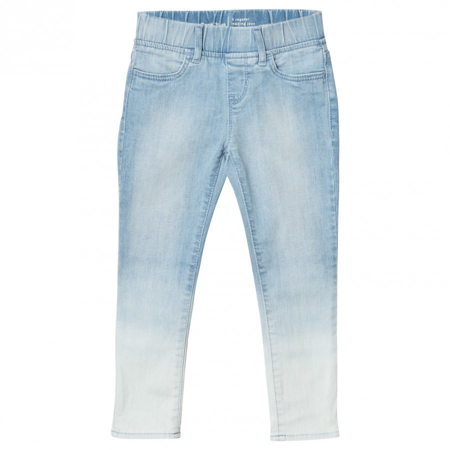 Gap High Stretch Dip Dye Skimmer Jeggings Light Denim Farkut